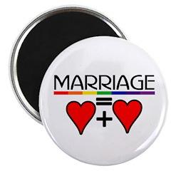 MARRIAGE = HEART + HEART Magnet