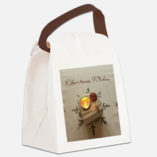 Christmas Wishes Canvas Lunch Bag