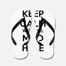 Keep Calm We're All Mad Here Flip Flops