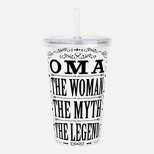 Oma The Legend... Acrylic Double-wall Tumbler