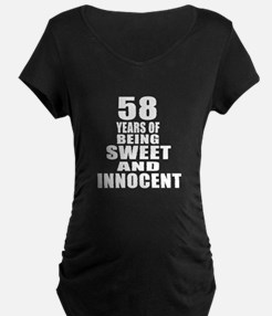 58 Years Being Sweet And In T-Shirt