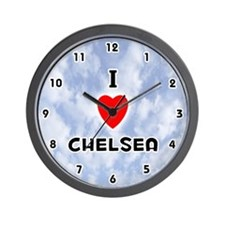I Love Chelsea (Black) Valentine Wall Clock