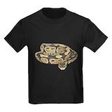 Ball python Kids T-shirts (Dark)
