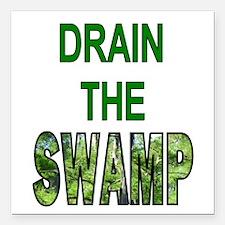 "Drain The Swamp Square Car Magnet 3"" X 3&quot"