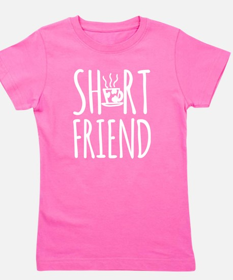 Coffee BFF Short Friend (white) Girl's Tee