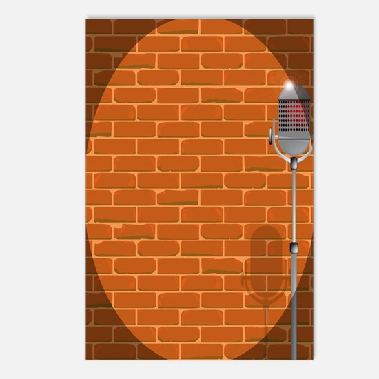 Cool Comedian microphone Postcards (Package of 8)