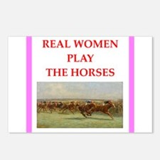 horse race Postcards (Package of 8)