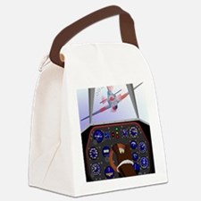 Cute Dog fighting Canvas Lunch Bag
