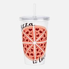 Pizza is Love Acrylic Double-wall Tumbler