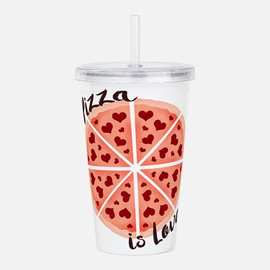 Pizza is Love Acrylic Double-wall Tumbler