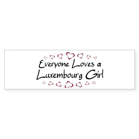 Luxembourg Girl Bumper Sticker