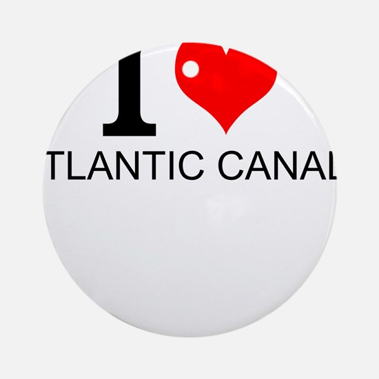 I Love Atlantic Canada Round Ornament