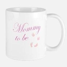 Mommy to Be Hands and Feet Pink Mugs