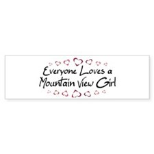 Mountain View Girl Bumper Bumper Sticker