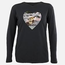 Cute Otters Plus Size Long Sleeve Tee