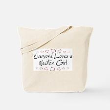 Newton Girl Tote Bag