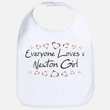 Newton Girl Bib