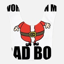 Holiday Dad Bod Polyester Baby Bib