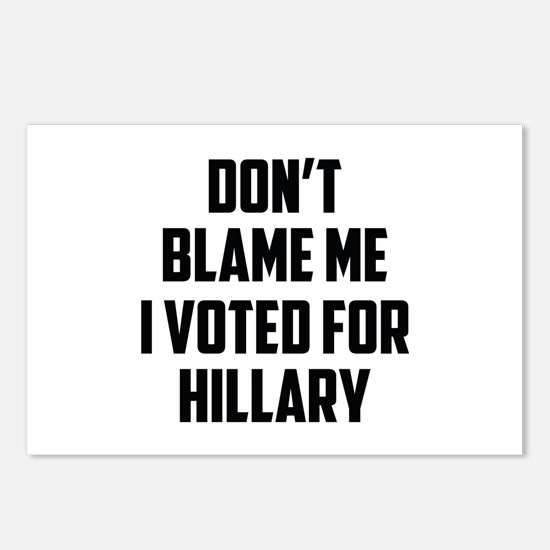 Don't Blame Me Postcards (Package of 8)