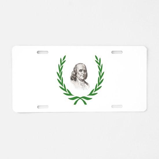 Green ben branch Aluminum License Plate