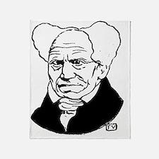 Funny Schopenhauer Throw Blanket