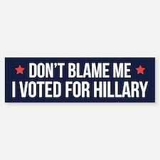 Don't Blame Me Bumper Car Car Sticker