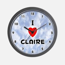 I Love Claire (Black) Valentine Wall Clock