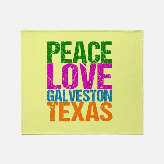 Peace Love Galveston Throw Blanket