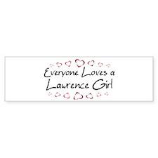 Lawrence Girl Bumper Bumper Sticker