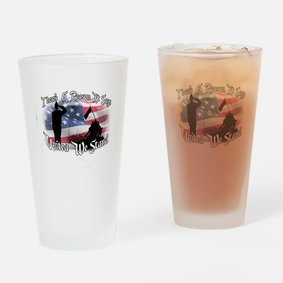 Funny United we stand Drinking Glass