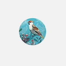 Winter Bird Mini Button