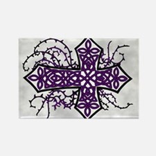 Gothic Celtic Cross Purple Magnets