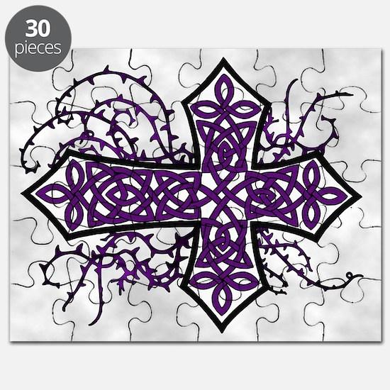Gothic Celtic Cross Purple Puzzle