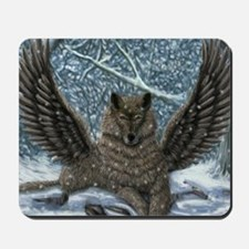 winged wolf Mousepad