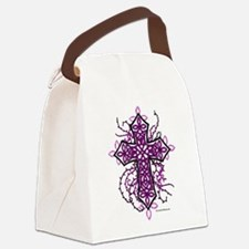 Gothic Celtic Cross Hot Pink Canvas Lunch Bag