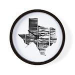 Real Texas Wall Clock