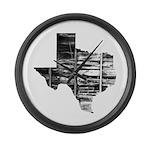 Real Texas Large Wall Clock