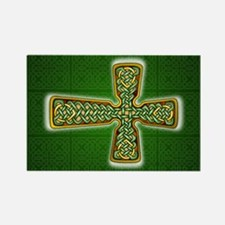 Teardrop Celtic Cross Green Magnets