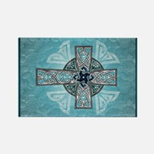 Traditional Celtic Cross Turquoise Magnets