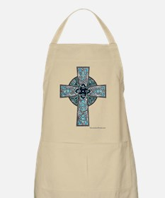 Traditional Celtic Cross Turquoise Apron