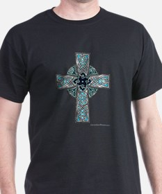 Traditional Celtic Cross Turquoise T-Shirt