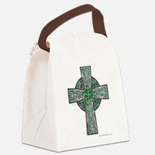 Traditional Celtic Cross Green Canvas Lunch Bag