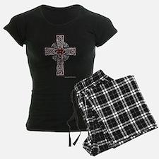 Traditional Celtic Cross Red Pajamas