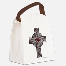 Traditional Celtic Cross Red Canvas Lunch Bag