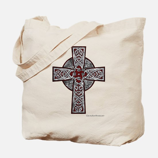 Traditional Celtic Cross Red Tote Bag