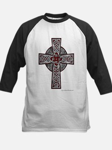 Traditional Celtic Cross Red Baseball Jersey