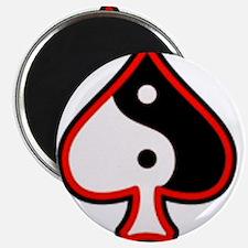 Red Border QoS Swirl Magnets