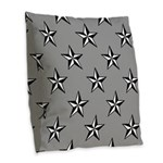 Lone Star Burlap Throw Pillow