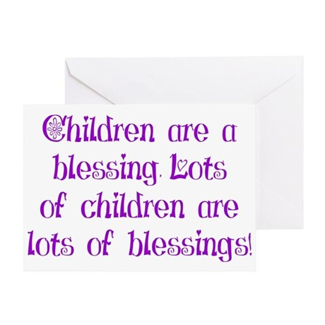 Children Are Blessings Greeting Card