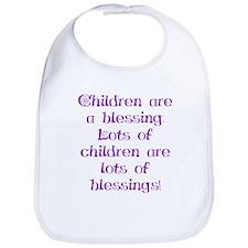 Children Are Blessings Bib
